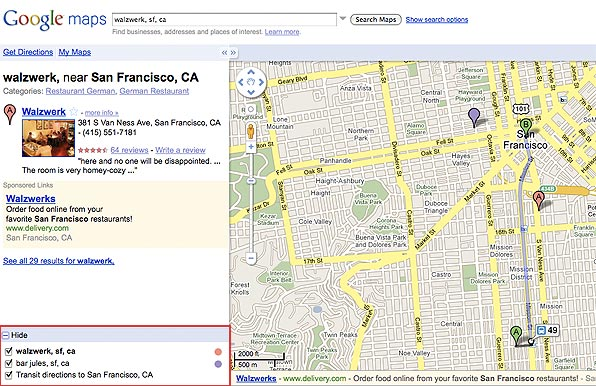 Google Maps Multiple Search