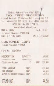 VAT Receipt