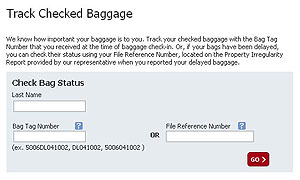 Delta Online tracking for Checked Bags
