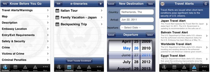 Smart Travel app by U.S. State Dept