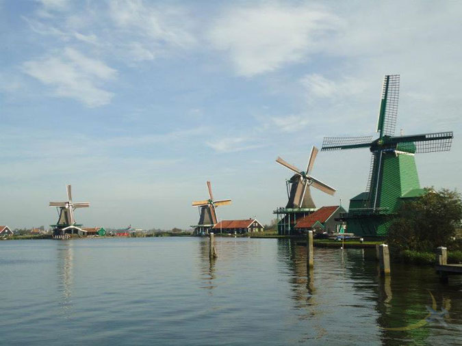 Windmills of Zaandam, Netherlands