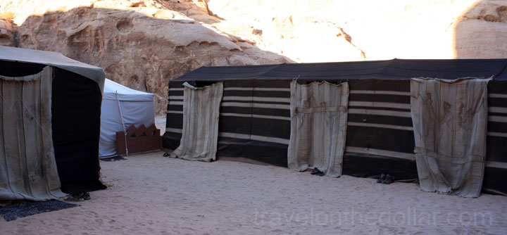 Our tents at the Bedouin Camp site