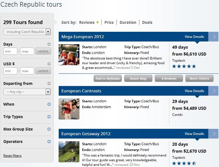 TourRadar - Search Results