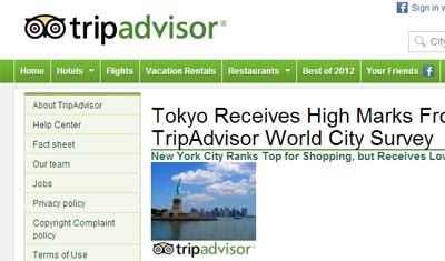 TripAdvisor Cities Survey