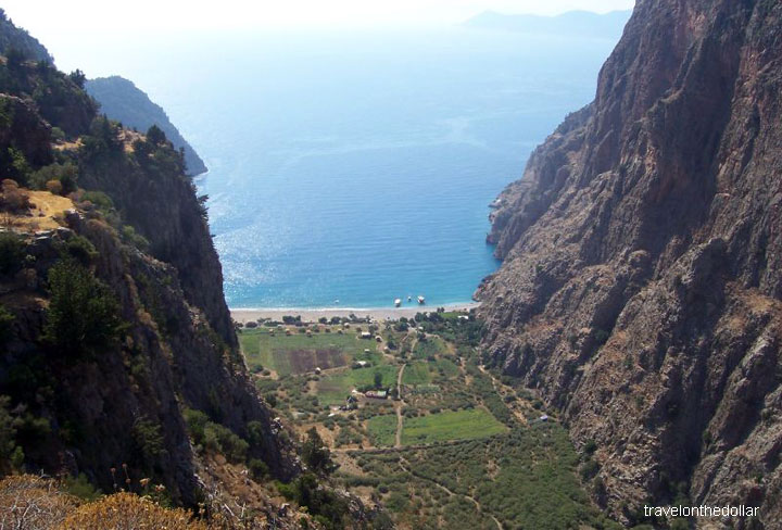 View from the village on top of Butterfly valley