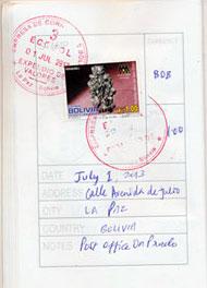 La Paz Postal Stamp