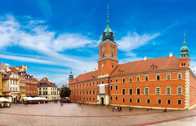 Royal Castle at Castle Square, Warsaw