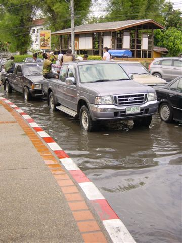 Even the streets could not handle the tons of water