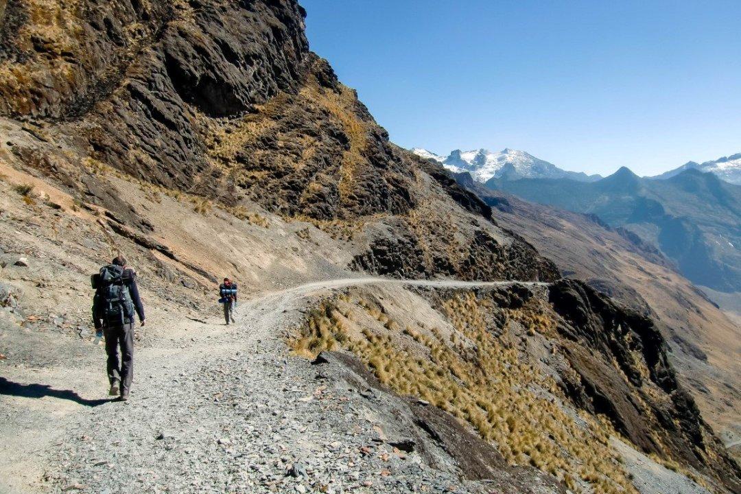 De El Choro trail in Bolivia