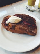 french toast at Cafe Toscano