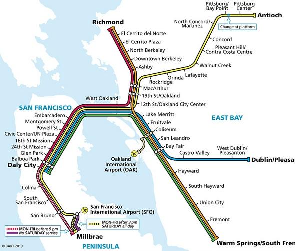 Treno Bart San Francisco Travelourplanetcom