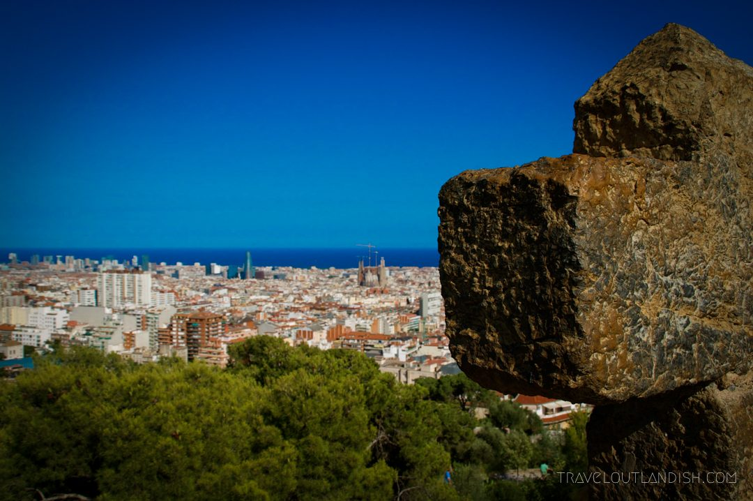 View of Barcelona from Parc Guelle