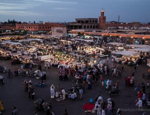 Best Street Food Cities - View Across Djeema al Fna in Marrakech