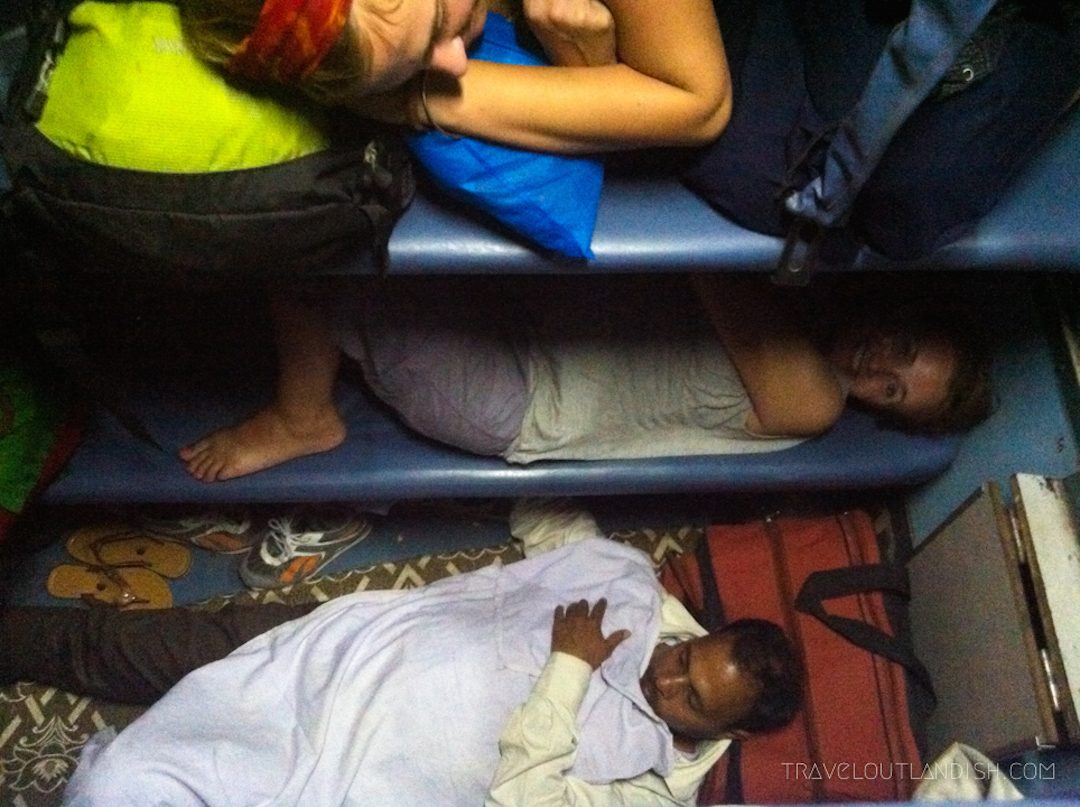 Sprawled out on an Indian train