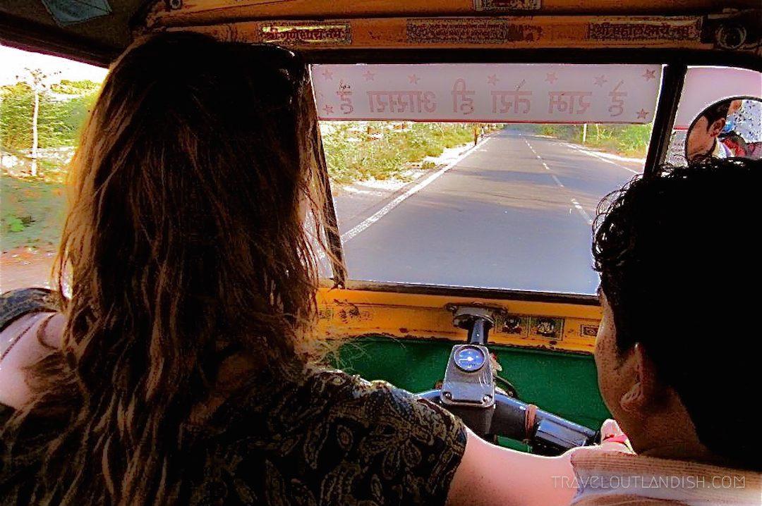 Driving a tuk tuk in India