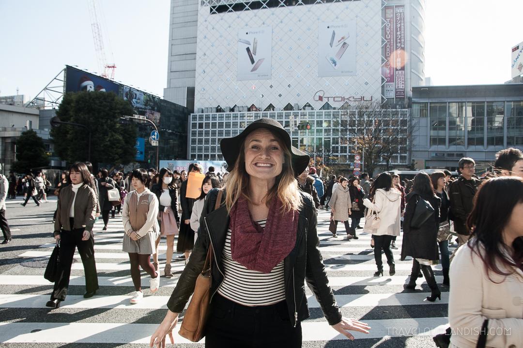Speakeasy Travel Scarf with Hidden Pocket in Tokyo
