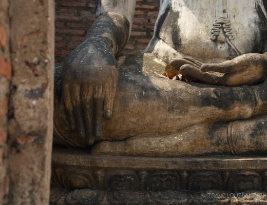 Sitting Buddha at Sukothai