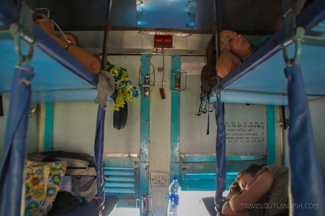 Bunks on an Indian Train