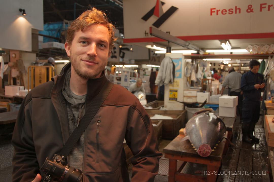Daniel in Front of a Blue Fin Tuna