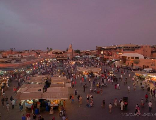 Moroccan Hammams - Djeema al Fna at Night