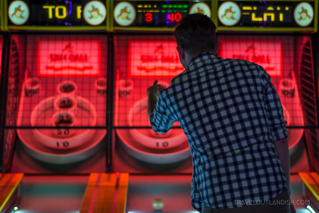 Skeeball at the Nickel Arcades is definitely one of the most fun things to do in Portland
