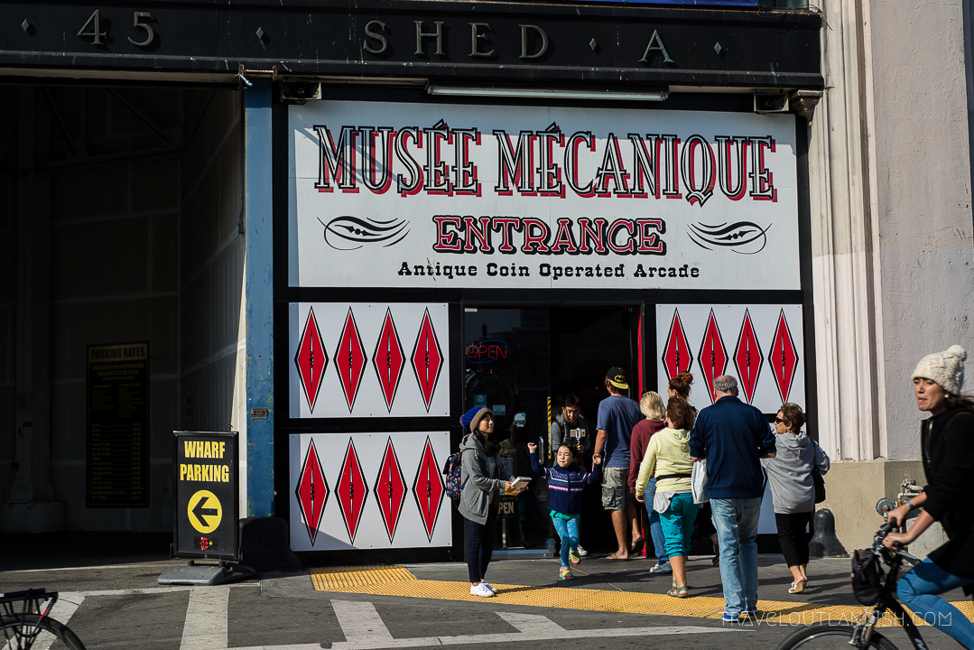 The entrance to Musée Mécanique in San Francisco
