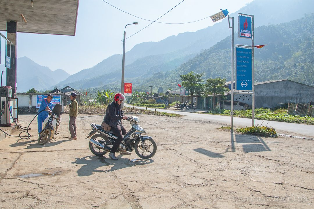 Riding a Motorbike in Ha Giang