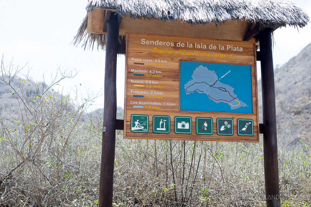 Galapagos Alternative: Trail Map on Isla de la Plata