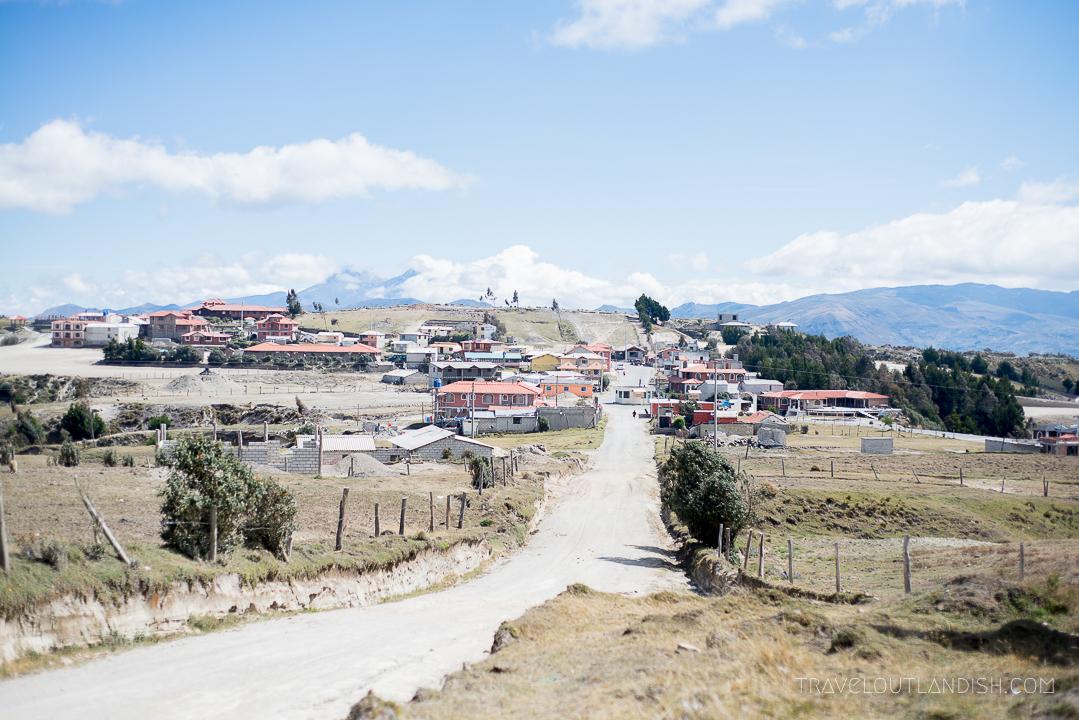 View of Quilotoa, Ecuador