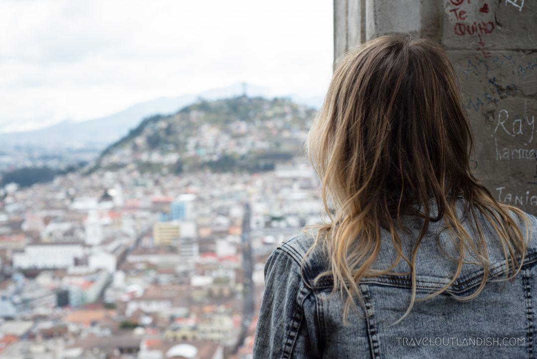 Taking in the view from La Basilica del Voto Nacional