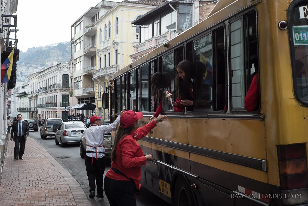 Best Street Food in Quito, Ecuador - Helado