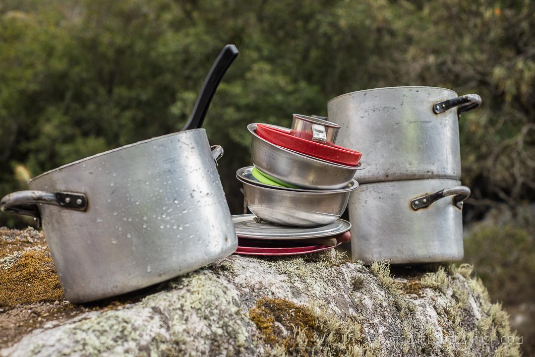 The Santa Cruz Trek - Cooking Equipment