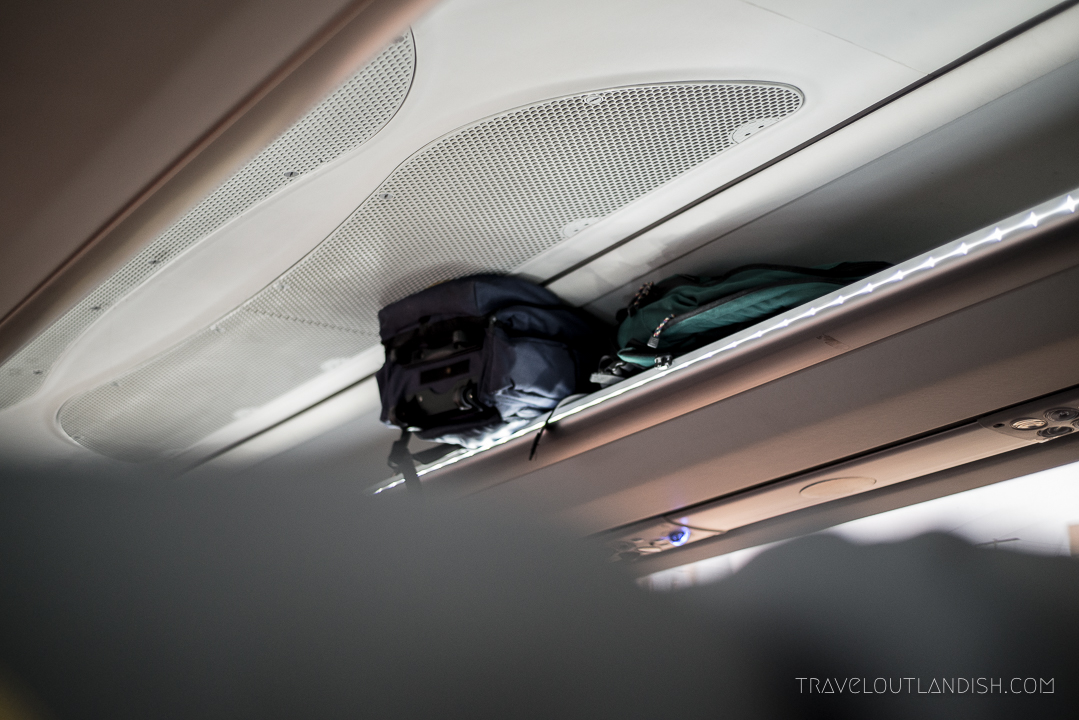 Bus Travel in South America - Overhead Compartments