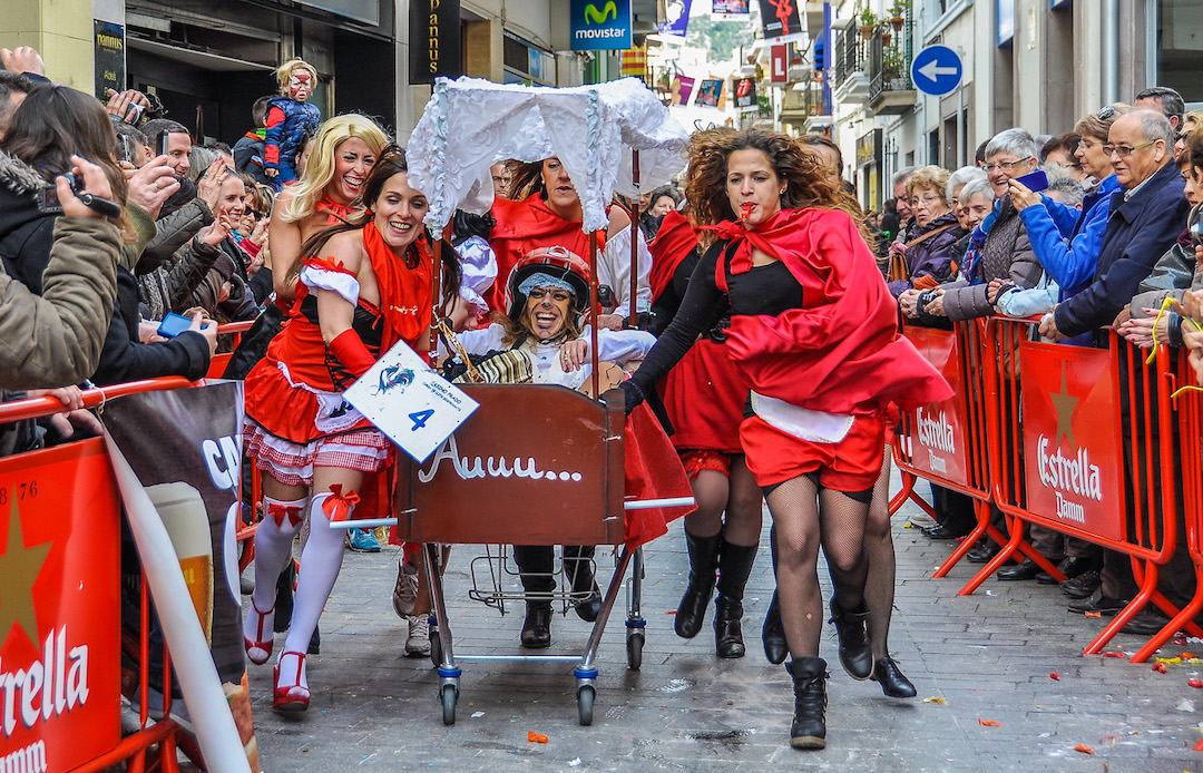 Weird Festivals in 2019 - Sitges Carnival Bed Race