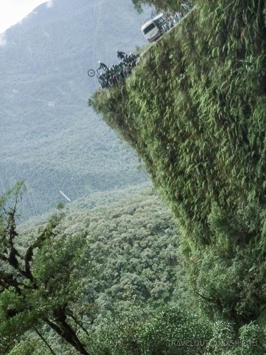 Death Road Bolivia - Dropoff