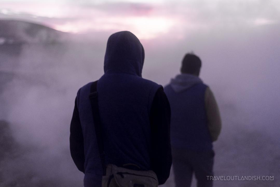 Salar de Uyuni Tours - Daniel and Vladmir lead the way at Sol de Mañana