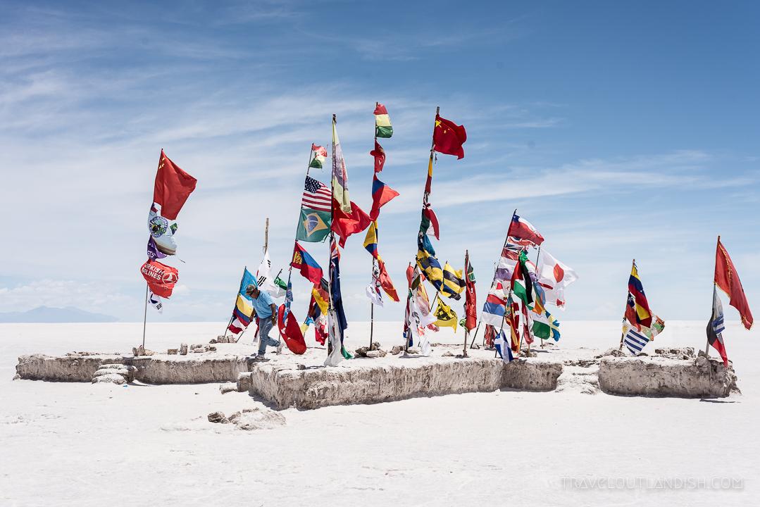 Salar de Uyuni Tours - International Flags