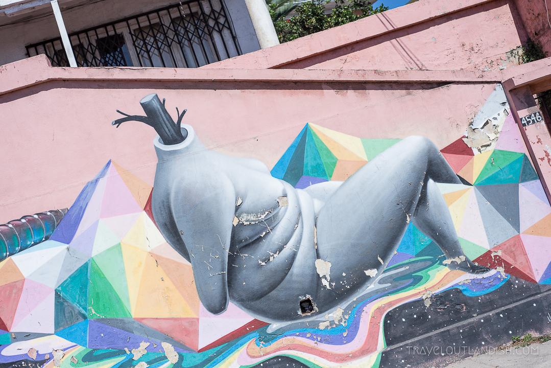 Vaparaiso Street Art - Headless Body
