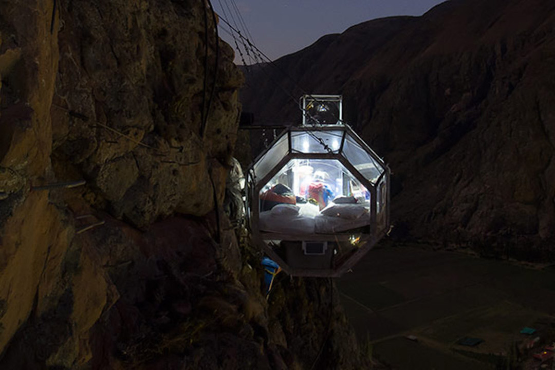 Unusual Hotels in South America - Skylodge
