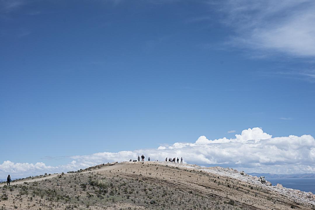 Bolivia - Hikers on Isla del Sol