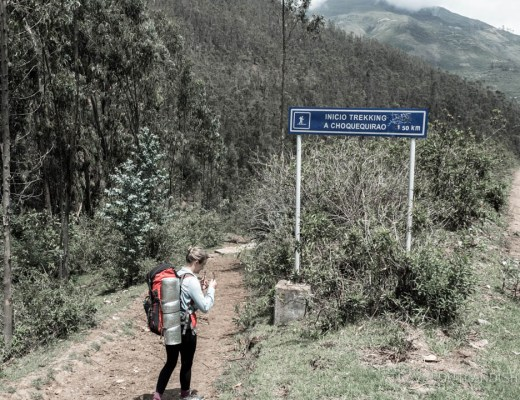 Gear Rental in Cusco - Carrying Gear on Choquequirao Trek