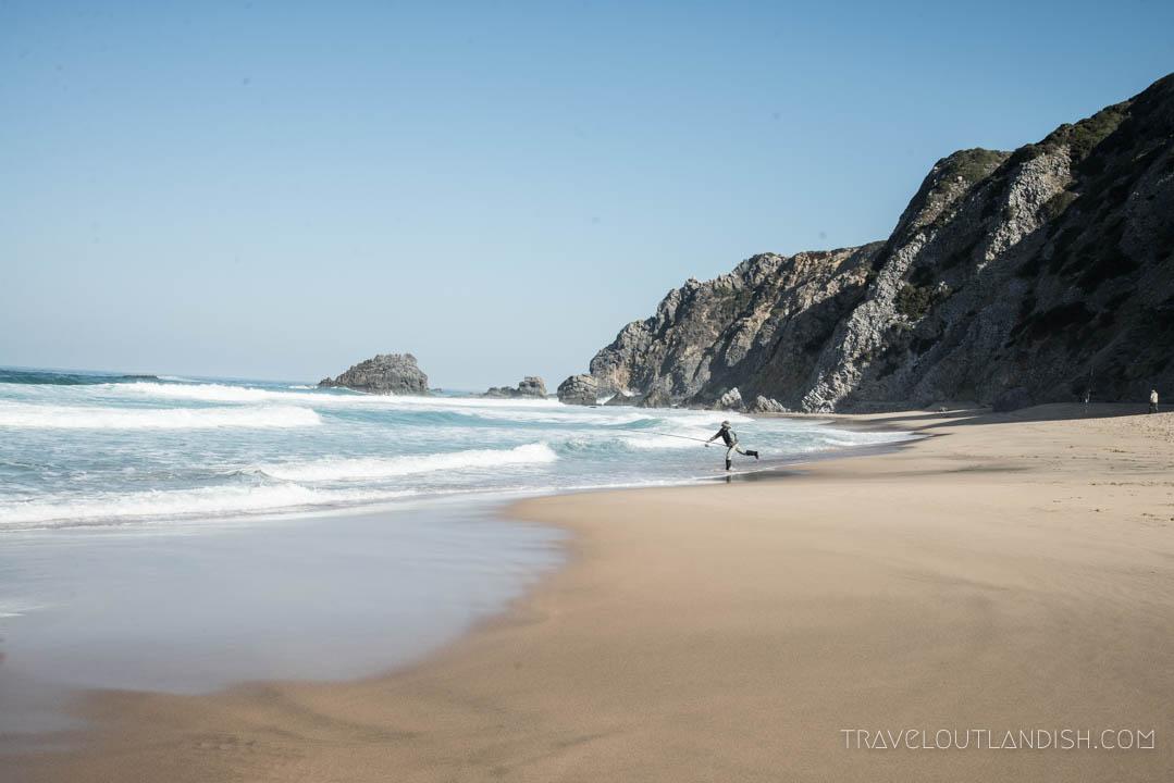 Photos of Portugal - Fisherman on a Beach in Cascais