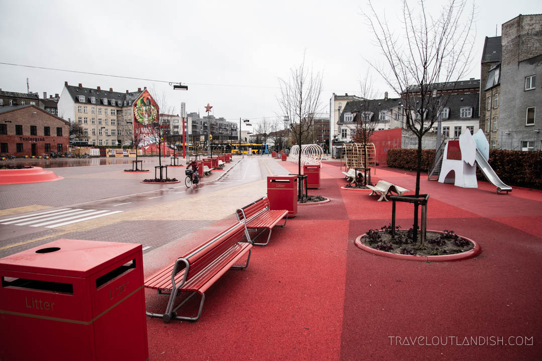 Fun Things to do in Copenhagen - Red Square at Superkilen Park