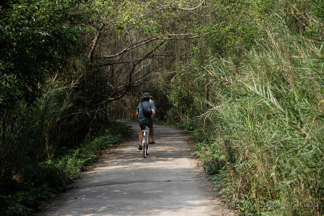 Biking on Cat Ba Island with Bhaya Cruises