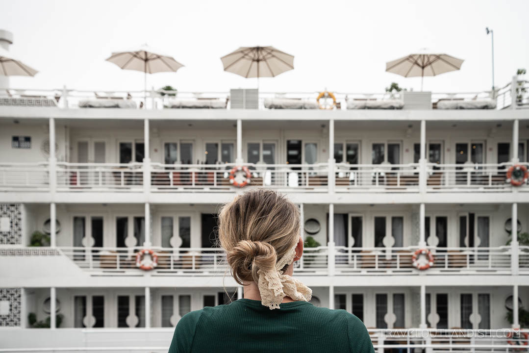 Luxury Halong Bay Cruise - Looking at the Au Co Cruise