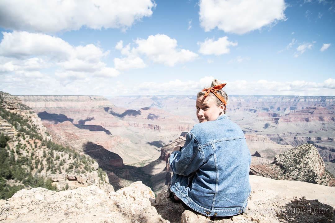 Taylor at the Grand Canyon