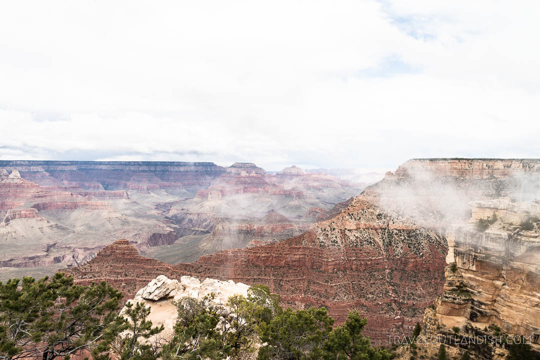 View of the Grand Canyon from Rim Overlook