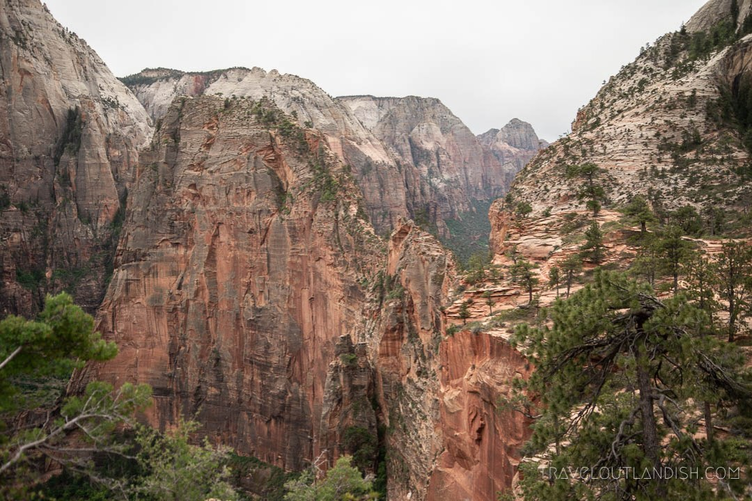 Coming up on Angel's Landing on Day 4 of the Zion Traverse