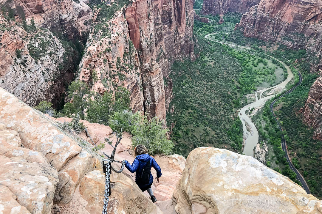Hiking Down from Angel's Landing