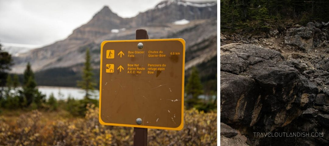 Trail Details on the Bow Hut Hike in Banff